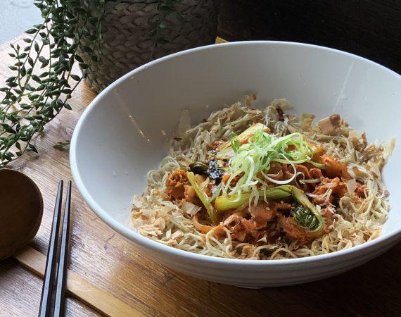 Kimchee Pork Dry Ramen